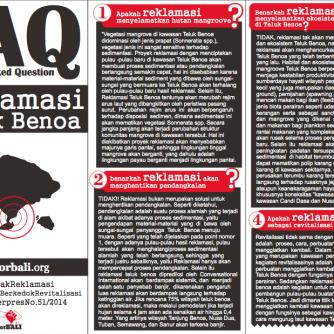 FAQ Tolak Reklamasi Teluk Benoa
