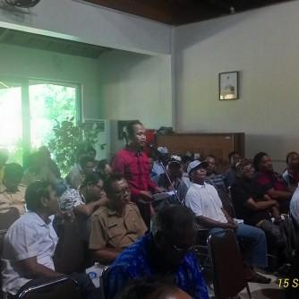 Proses Konsultasi Dishut Tidak Transparan, Walhi Bali Walk Out