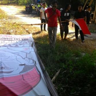 Foto Baliho Usai Dirobokan TNI Dok ForBALI