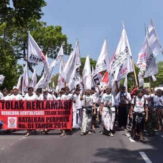 Aksi Pasbuayan Desa Adat Bali Tolak Reklamasi 13 Oktober 2016 (1)