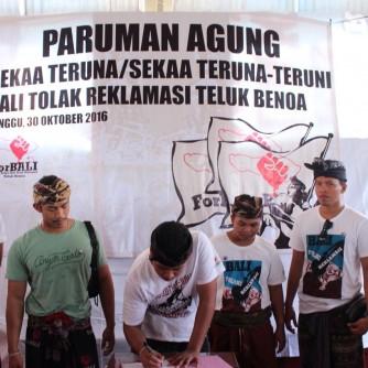 Paruman Agung Pagubuyan STT Bali Tolak Reklamasi