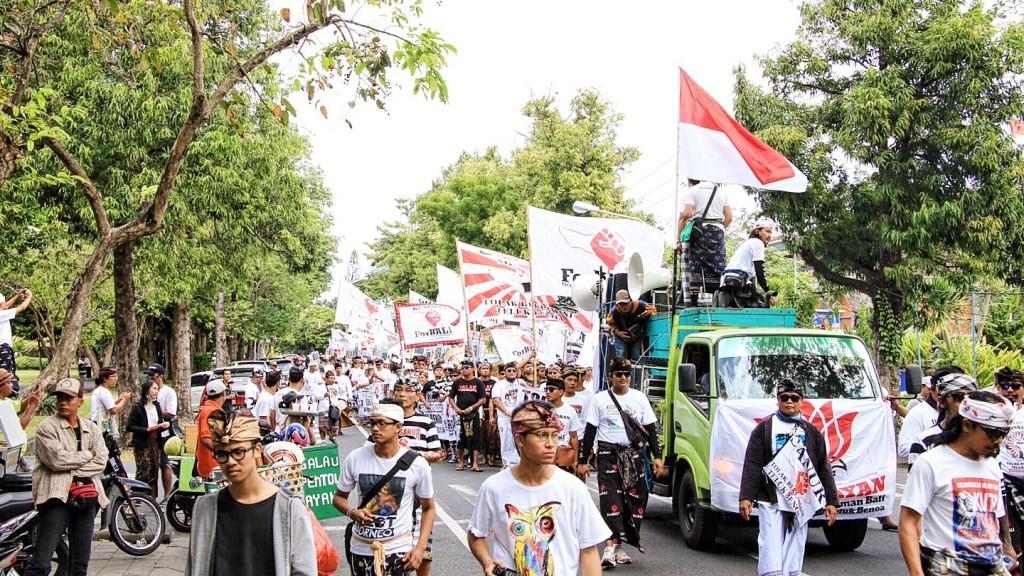 Foto Aksi Bali Tolak Reklamasi Teluk Benoa Rabu, 26 Juli 2017 (1)