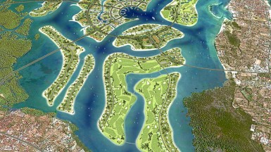 An artist's impression of the Benoa Bay reclamation project