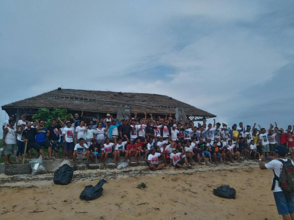 Bersih sampah Pulau Pudut 1