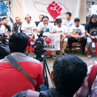 Foto Press Konfrens Kemenangan Teluk Benoa 27 Agustus 2018 1