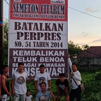 2019-01-20-dokumentasi rilis Desa Adat Kuta Dan Semeton Citarum, Dirikan Baliho Protes Ijin Lokasi reklamasi (3)