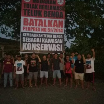 2019-01-29- dokumentasi rilis Lawan Izin Lokasi Susi Pudjiastuti, Desa Adat Medahan Gianyar Kembali Dirikan Baliho BTR (4)